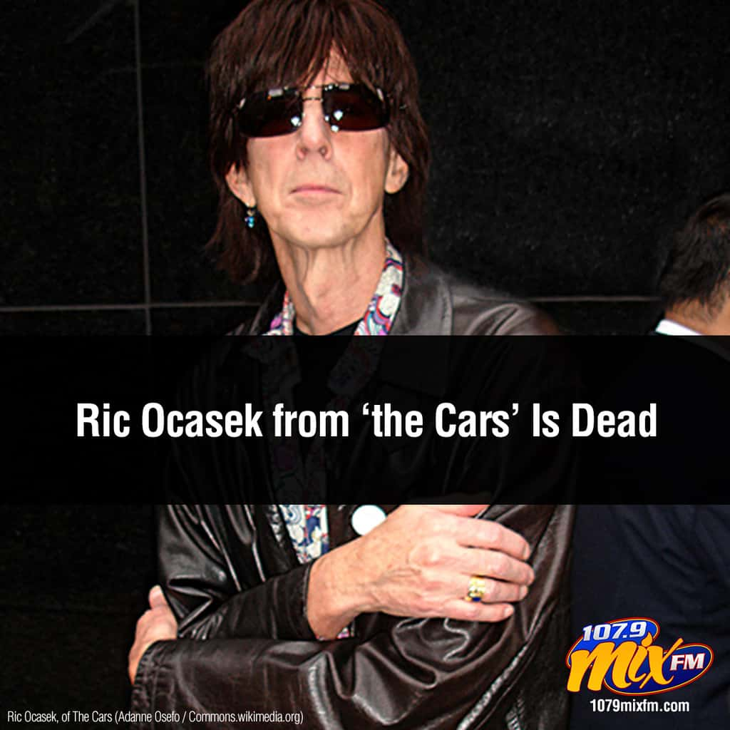 Cars Singer Ric Ocasek Is Dead