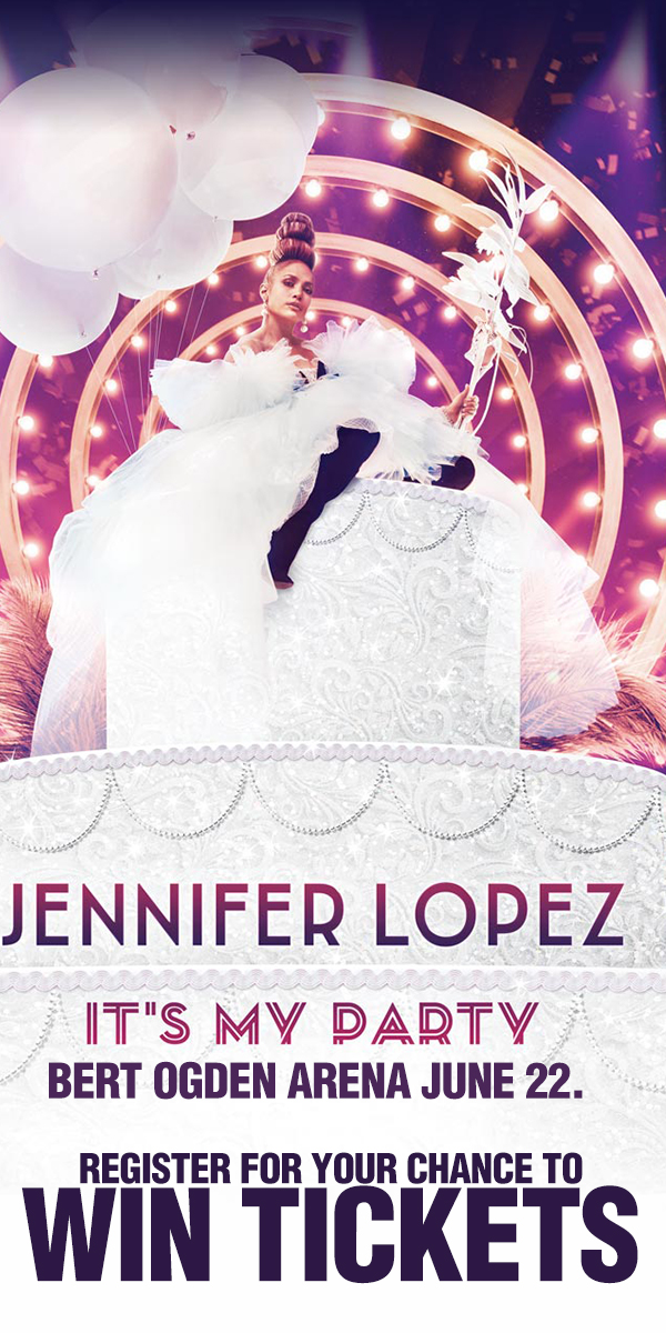 Register for your chance to win tickets to see Jennifer Lopez Live on June 22nd at the Bert Ogden Arena!