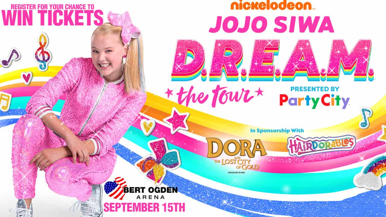 Register for your chance to win tickets to see the Jojo  SIWA on Sept 15th