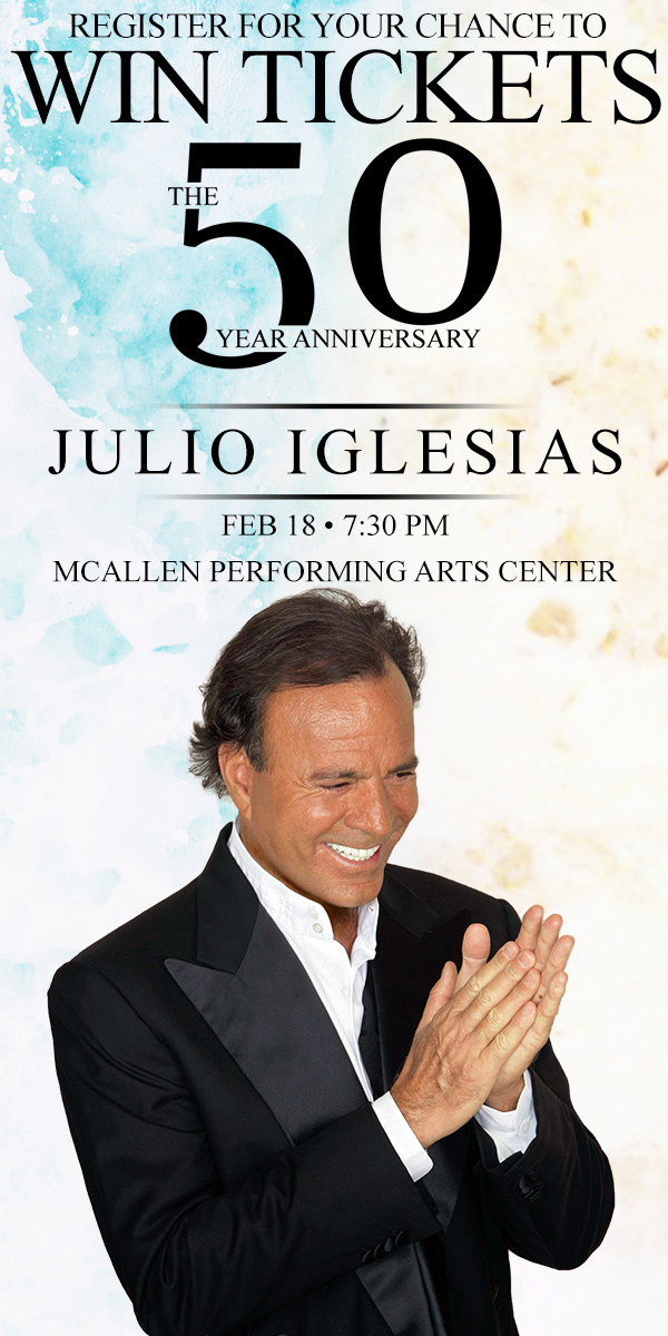 Register to Win tickets to see Julio Iglesias on Feb 18th