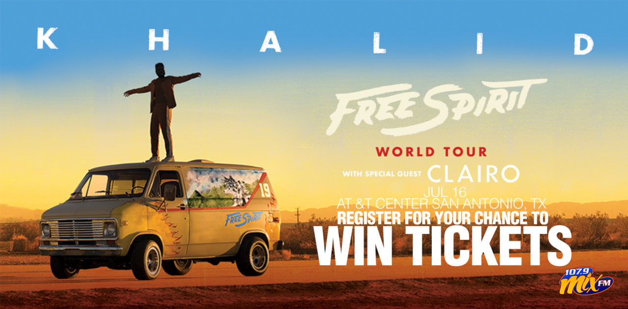 Register for your chance to win tickets to see Khalid Free Spirit Tour on July 16th at the AT&T Center in San Antonio! It's going to be Epic!