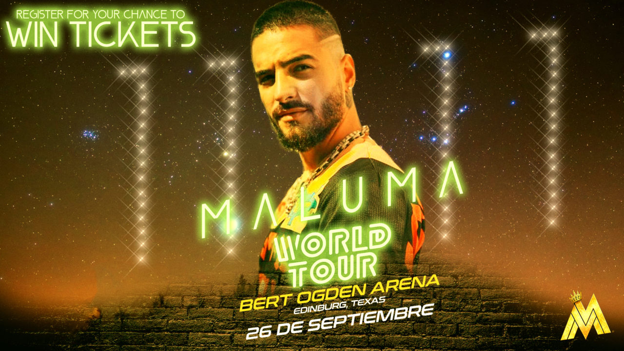 Register for your chance to win tickets to see the Maluma World Tour