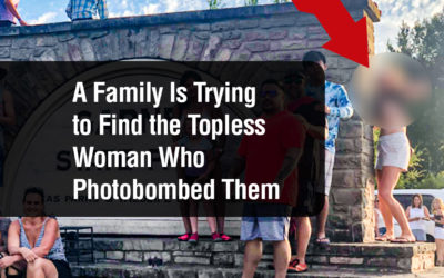 A Family Is Trying to Find the Topless Woman Who Photobombed Them