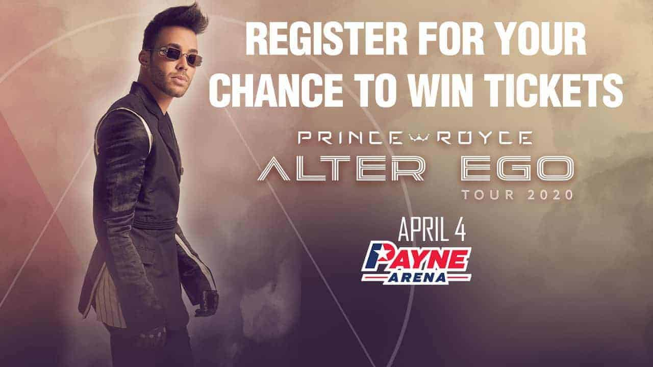 Register for your chance to win tickets to see Prince Royce