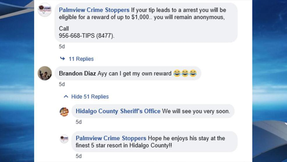 A Palmview Criminal Attempts to Collect His Own Reward Money  LOL
