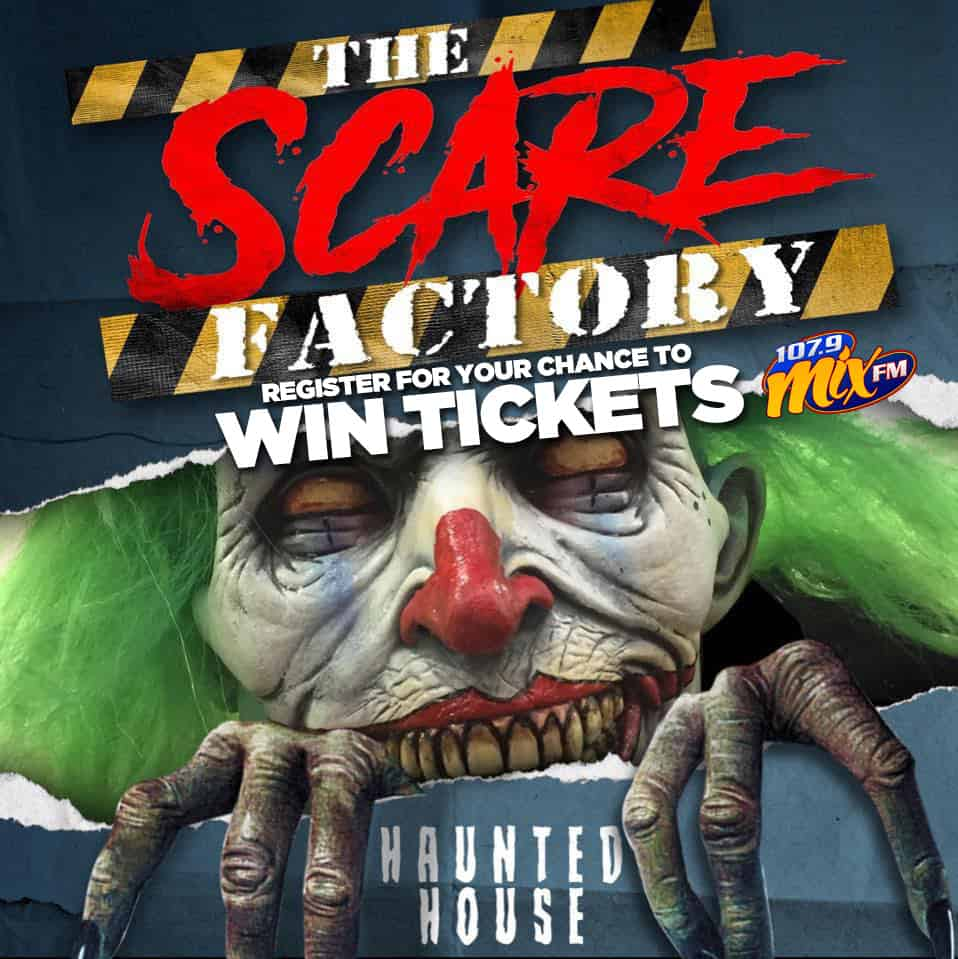Register for your chance to win tickets to visit the Scare Factory Haunted House!