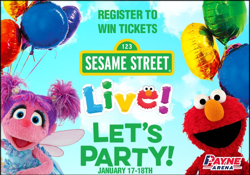 Register for your chance to win a family 4 pack of tickets to see Sesame Street Live!