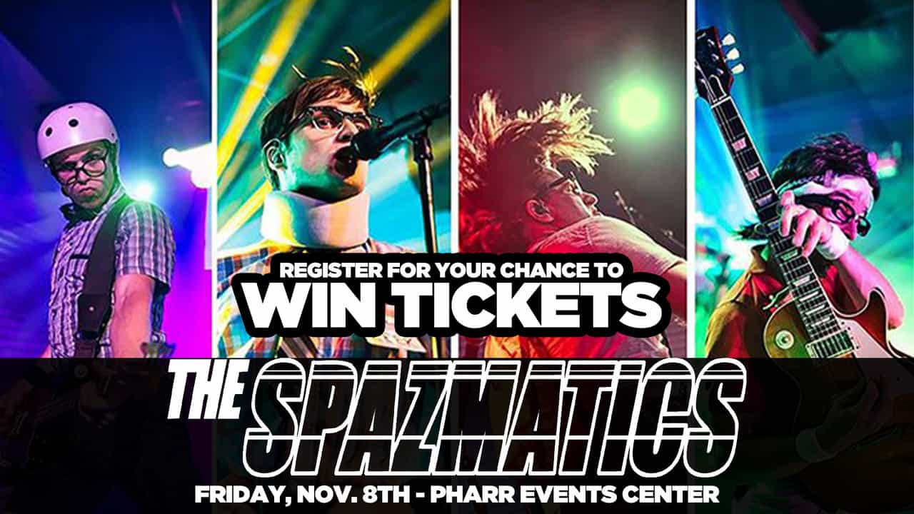 Register for your chance to win tickets to see the Spazmatics!