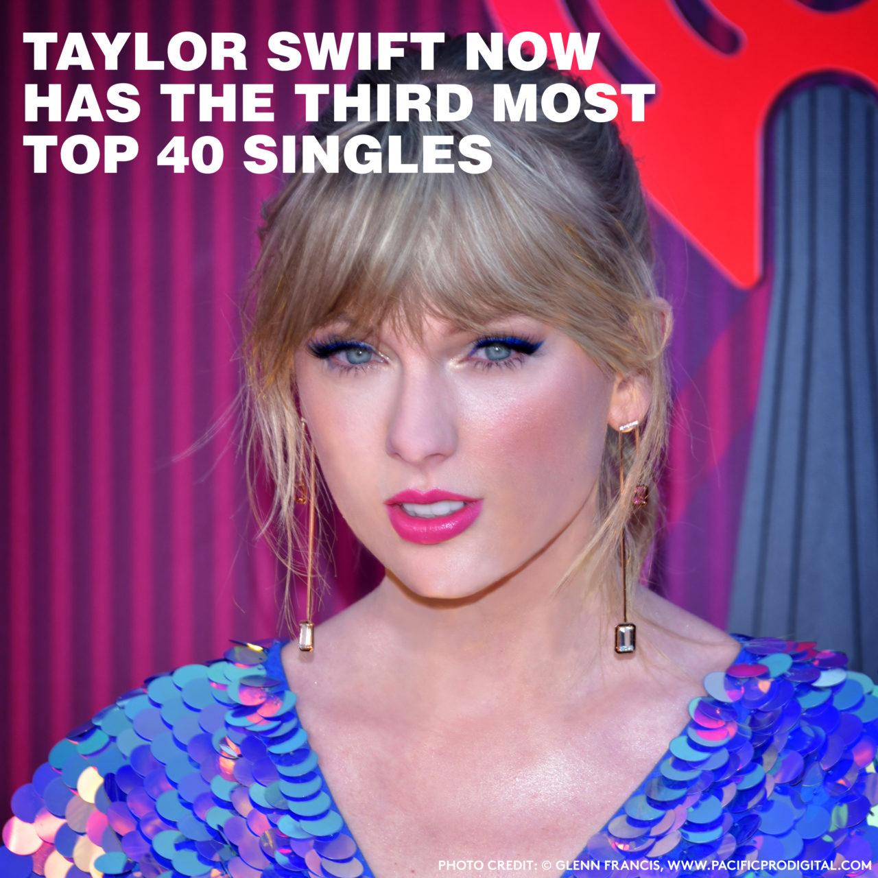 """TAYLOR SWIFT's latest single """"Me!"""" debuted at #2 on the Hot 100 this week.   It's her 57th Top 40 hitout before if you can believe that . . . and it puts her in good company."""