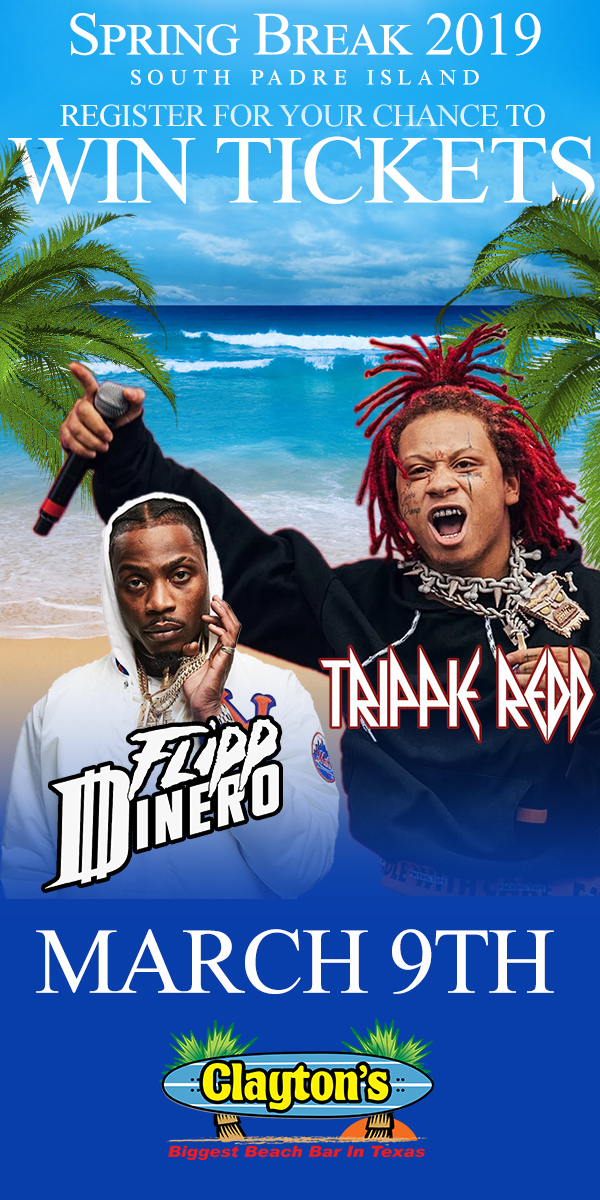 Register to Win tickets to see Tripple Redd at Claytons SPI