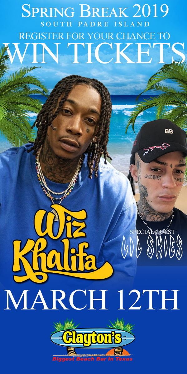Register to Win tickets to see Wiz Khalifa at Claytons SPI