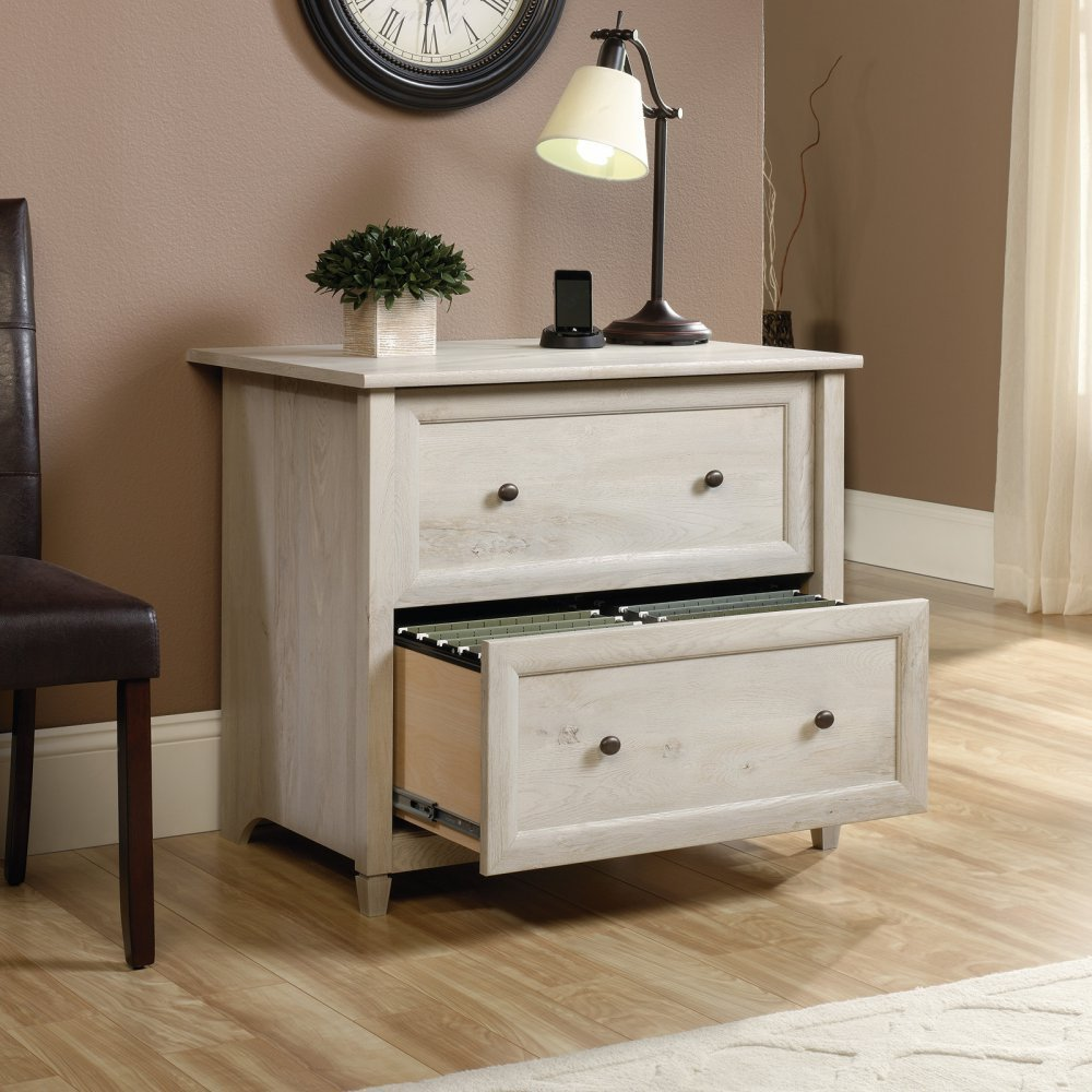 Details about Sauder 34 Edge Water File Cabinet in Chalked Chestnut