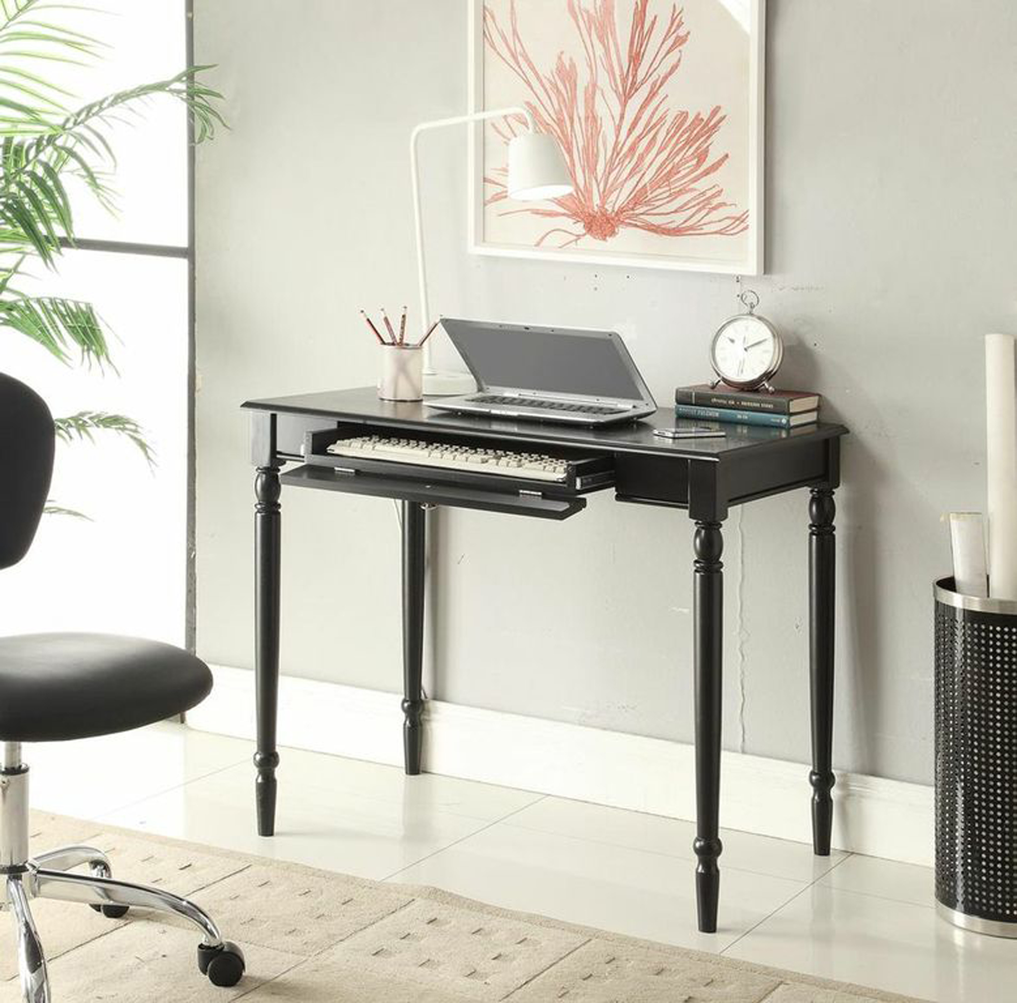 French Country Desk Black Finish