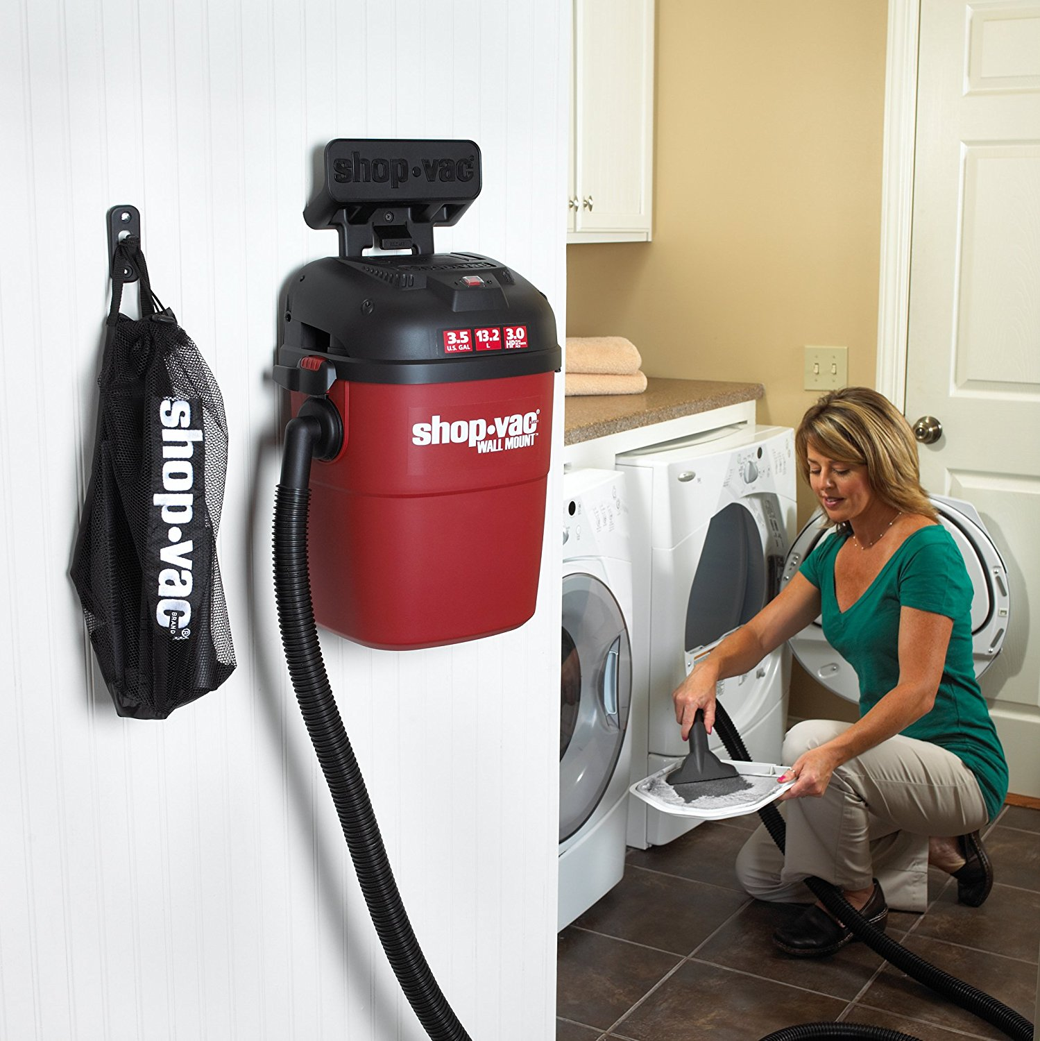 Shop Vac 3 5 Gallon 3 0 Peak Hp Wall Mount Wet Dry Vacuum