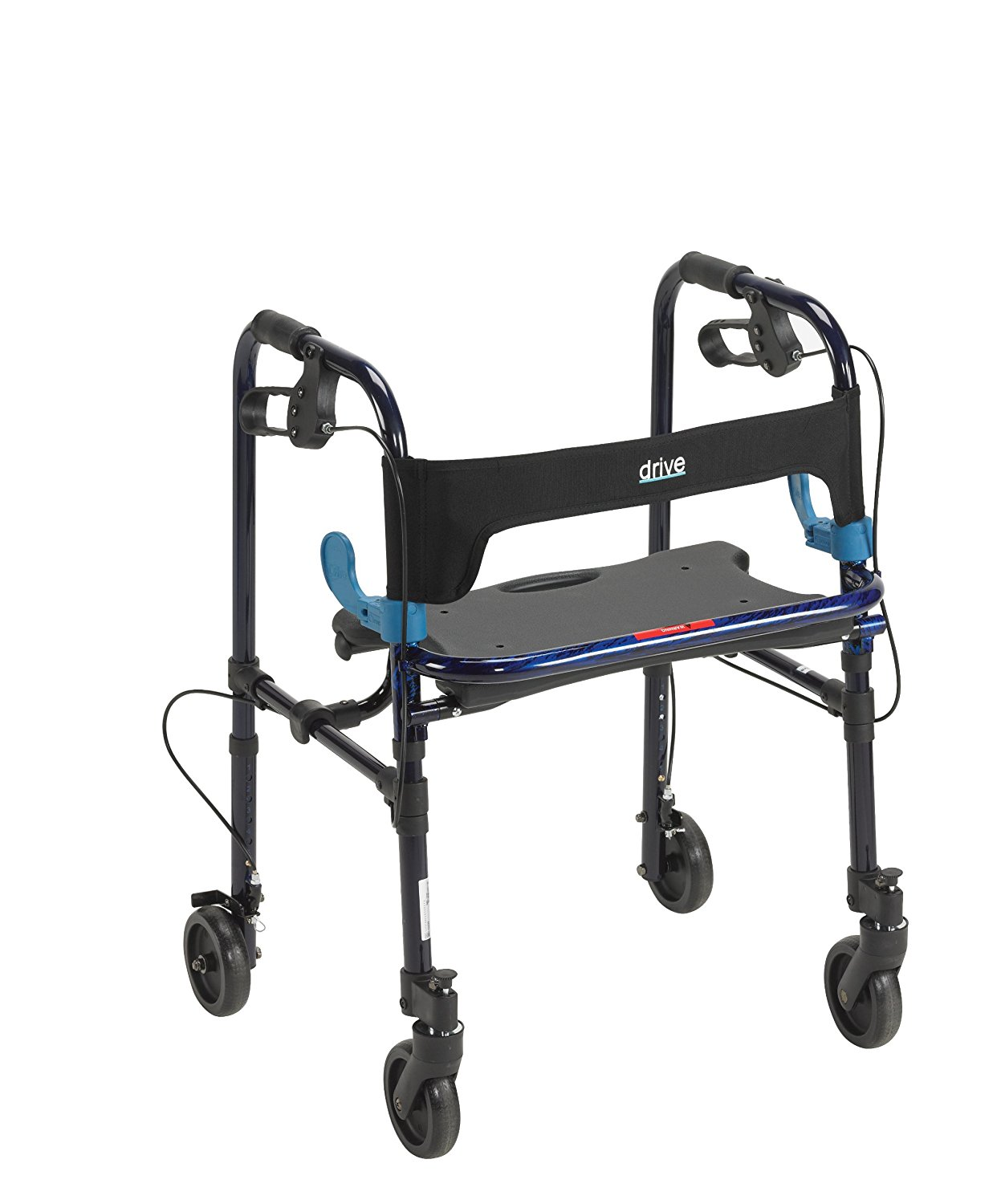 Drive Medical 10230 Clever Lite Rollator Walker with 5 inch Wheels ...
