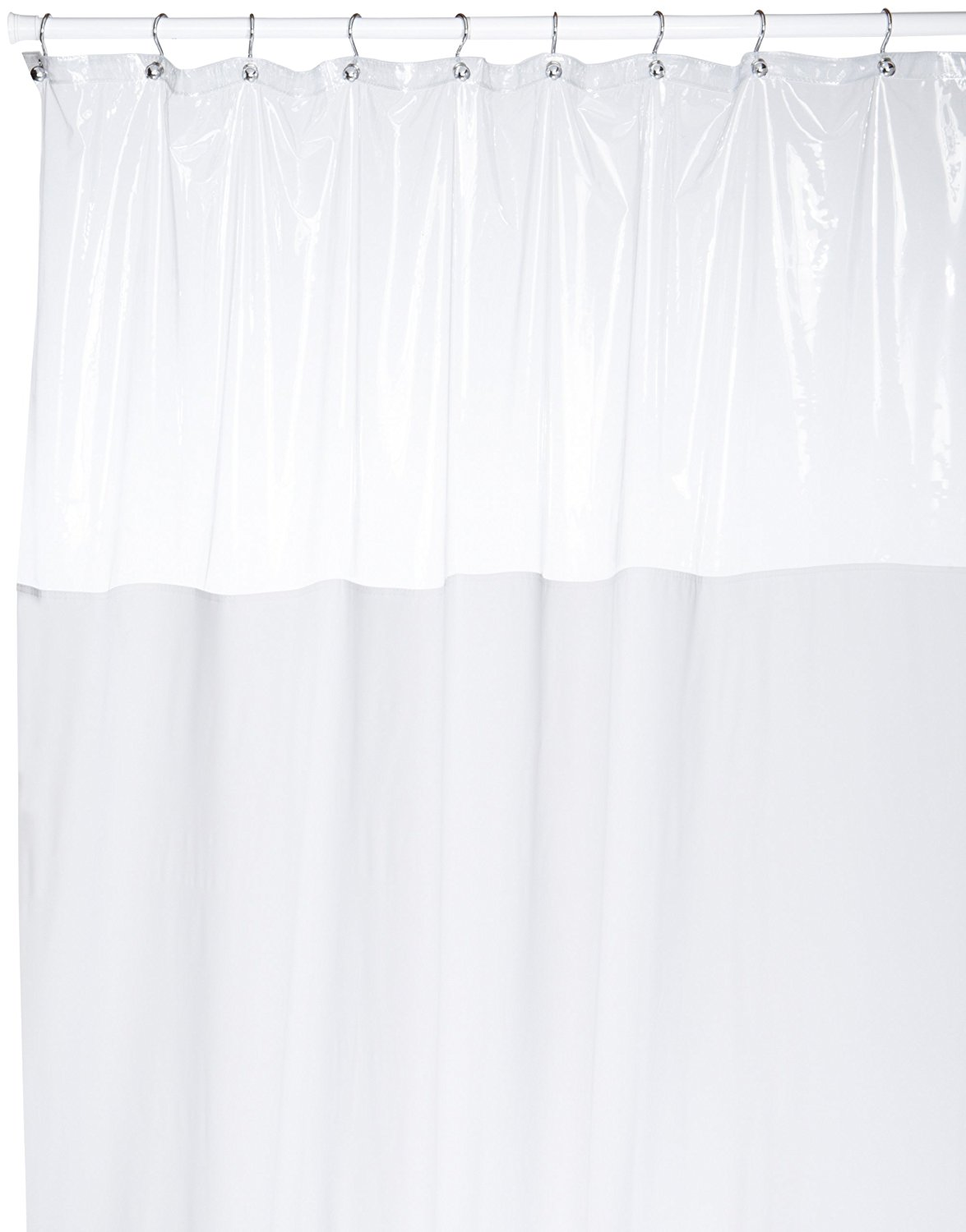 Carnation Home SCWIN 72 Standard Window Shower Curtain Clear Top