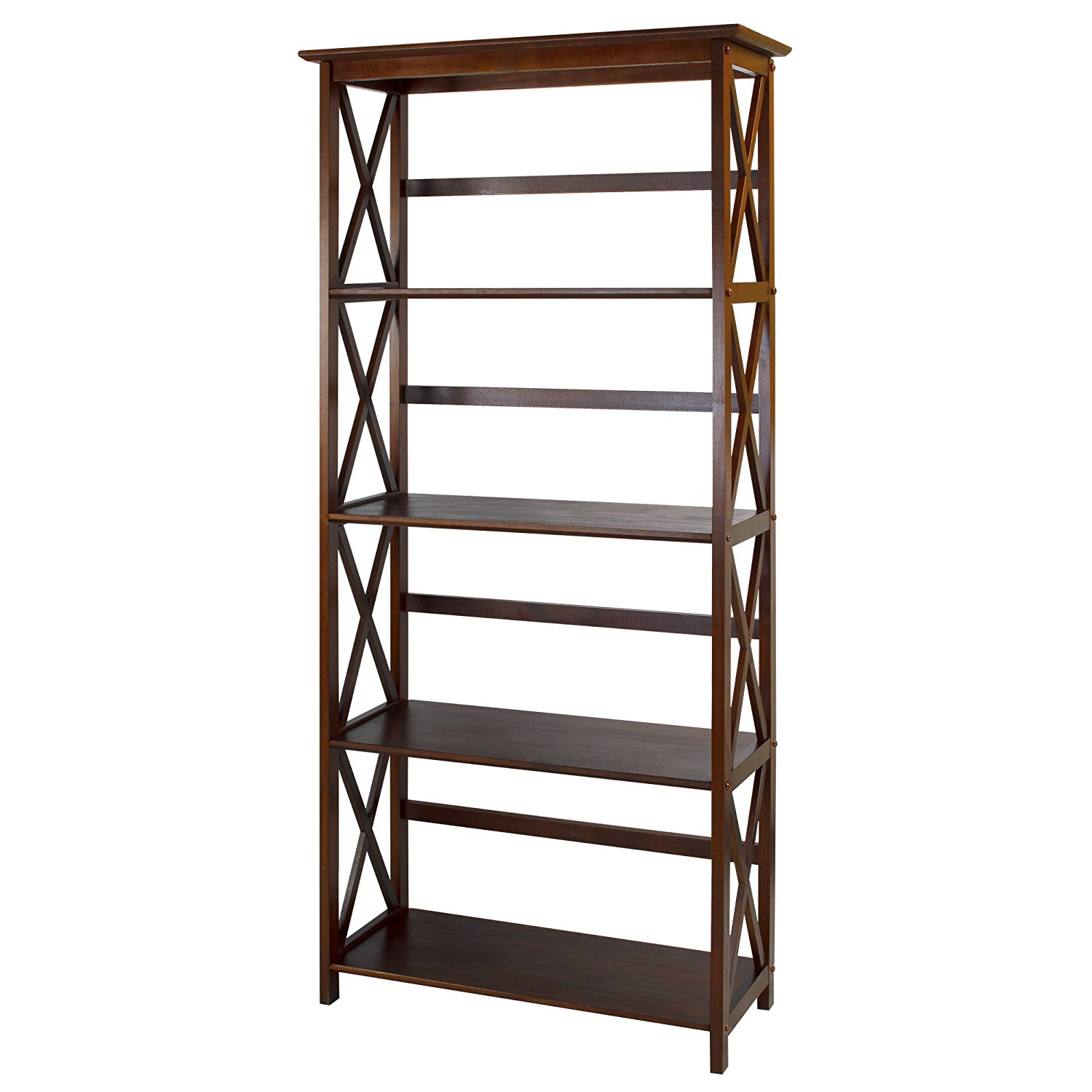 Casual Home Montego Collection 5 Shelf Bookcase In
