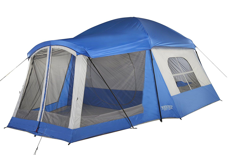 wenzel 36424b camping outdoor weather repellent 8 person klondike
