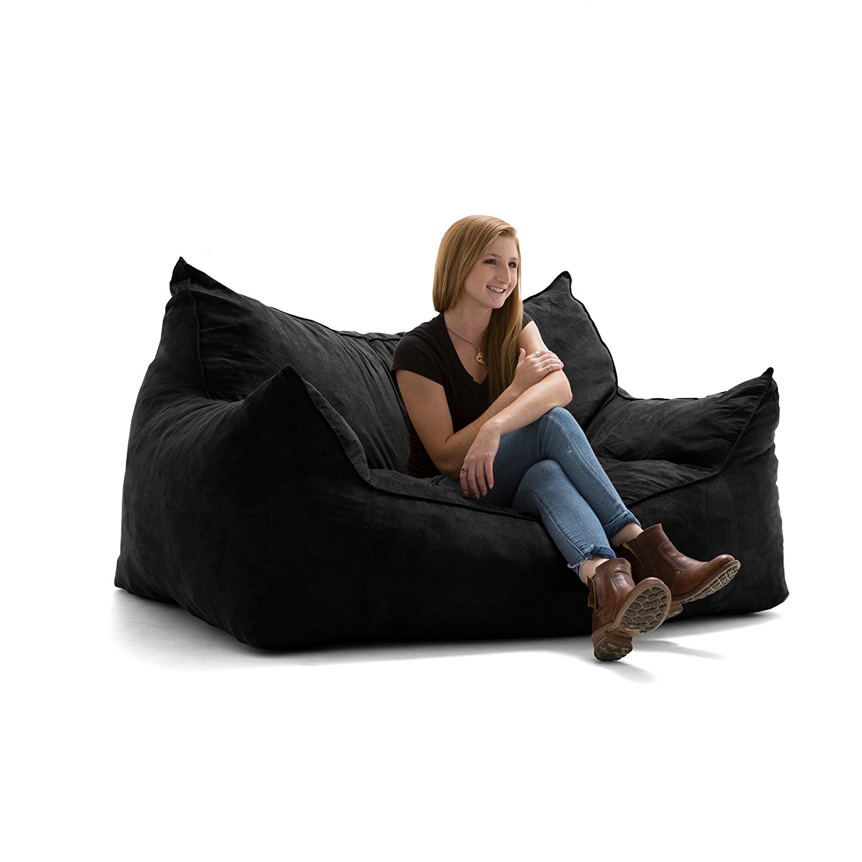 Astounding Details About Big Joe 0552378 Imperial Fufton In Comfort Suede Plus Bean Bag Chair Black New Beatyapartments Chair Design Images Beatyapartmentscom