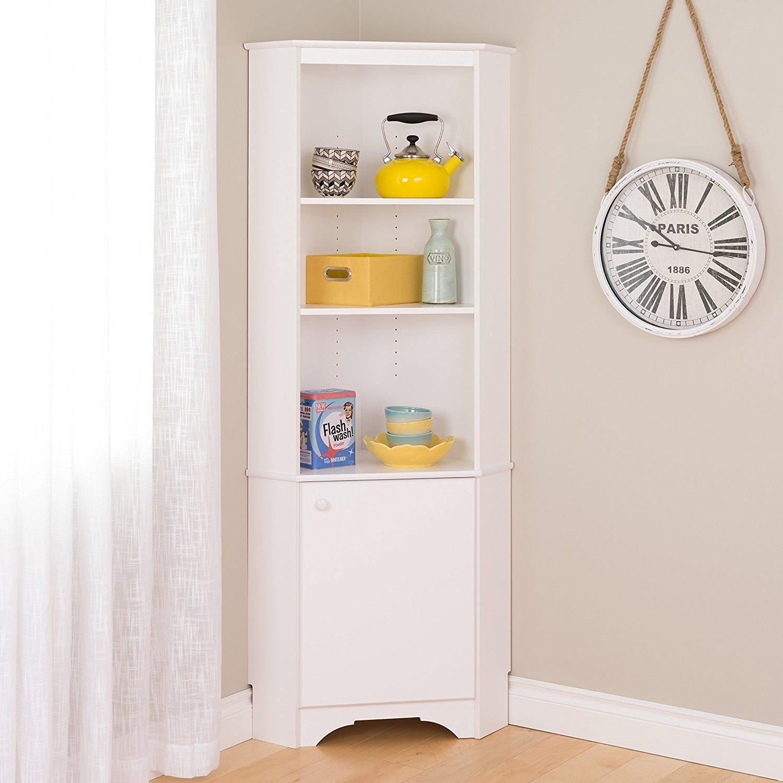 De S About Prepac Home Elite Tall 1 Door Corner Storage Cabinet In White Wscc 0604 1 New