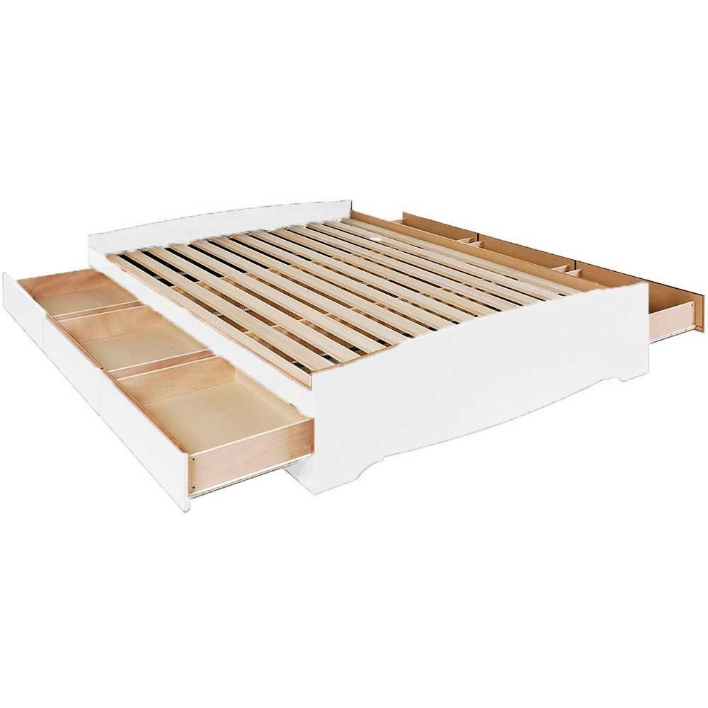 Prepac Queen Mate S Platform Storage Bed With 6 Drawers In