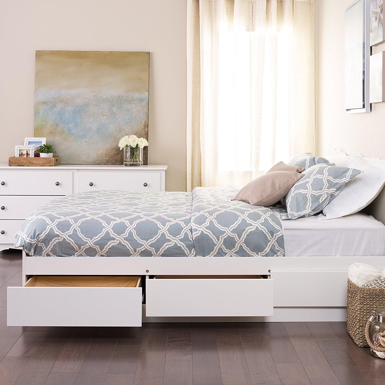 Prepac queen mate s platform storage bed with 6 drawers in - Best platform beds with storage ...