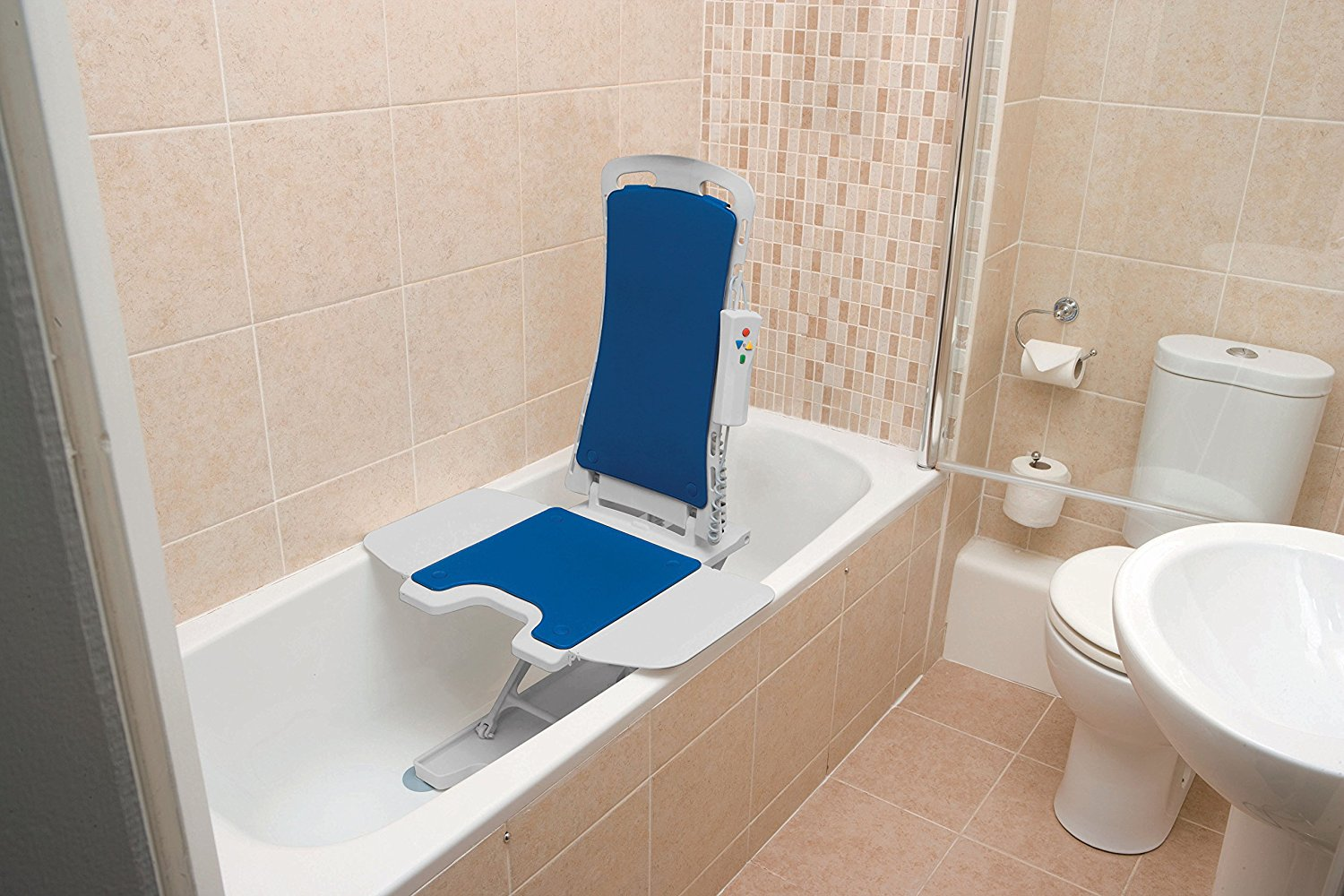 Drive Medical 477150312 Blue Whisper Ultra Quiet Bathtub Lift Bath ...