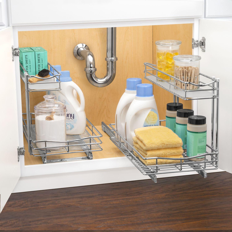 Lynk Professional Slide Out Under Sink Cabinet Organizer