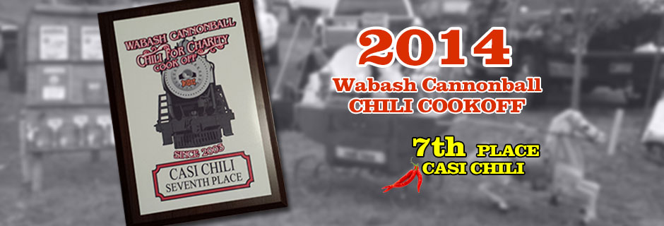 "2014 - ""Wabash Cannonball"" CHILI COOKOFF"