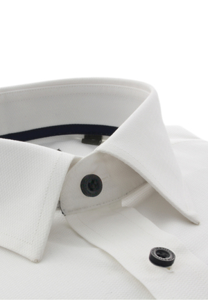 White Superfine Herringbone