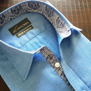 Preppy_solid_shirt_with_paisley_contrast
