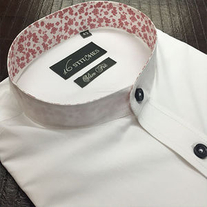 White_banded_collar_shirt_with_floral_style_opt