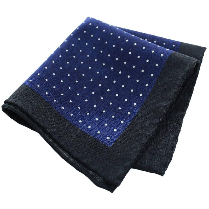 Navy Polka Wool