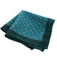 Green Mini Paisley Wool