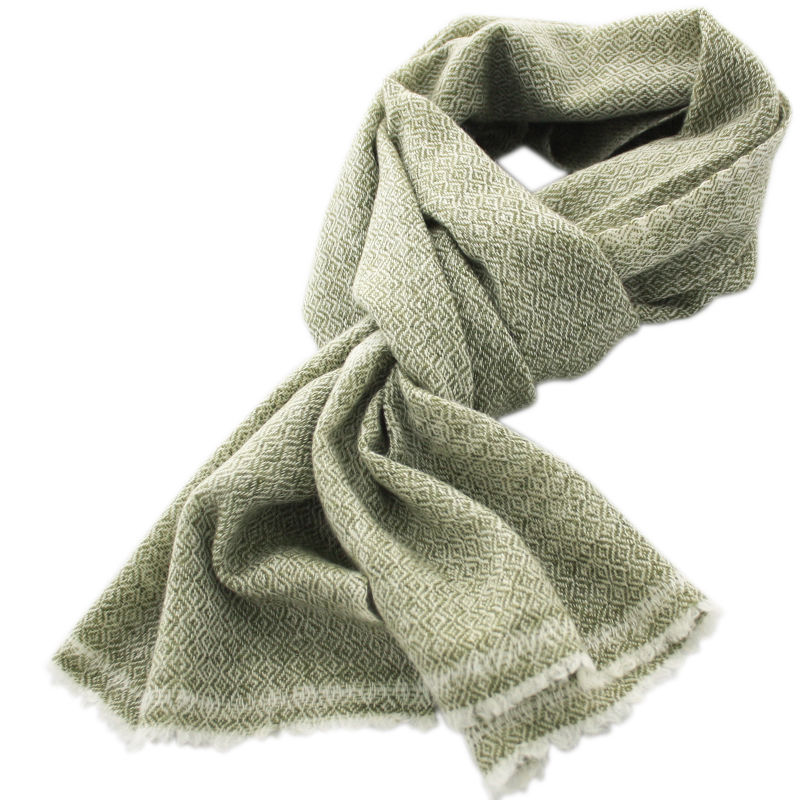 Green Cashmere Scarf