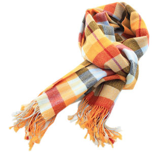 Large Checks Cashmere Scarf