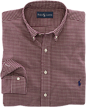 Custom-Fit Checked Dress Shirt