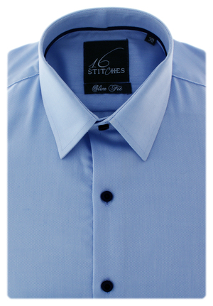 Light Blue Structured Royal Oxford