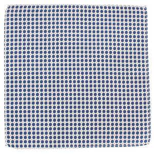 Large Blue Polka Microfibre