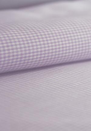 Lavender Mini Checks in Yarn Dyed Cotton