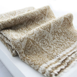 Brown Paisley Cashmere Scarf