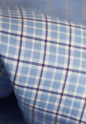 Yarn Dyed Checks in Shades of Blue