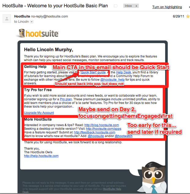 hootsuite too many ctas 5 Rules for SaaS Email Marketing and Transactional Messages
