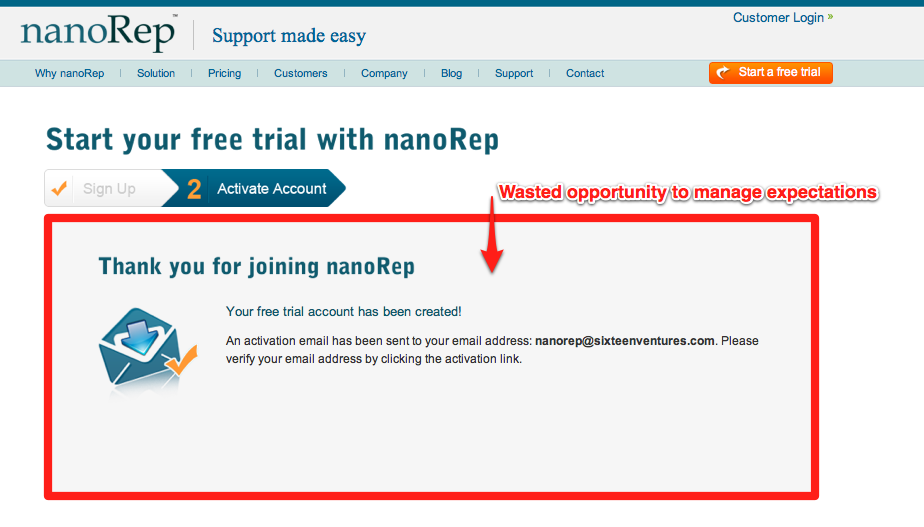 nanorep not managing expecations 5 Rules for SaaS Email Marketing and Transactional Messages