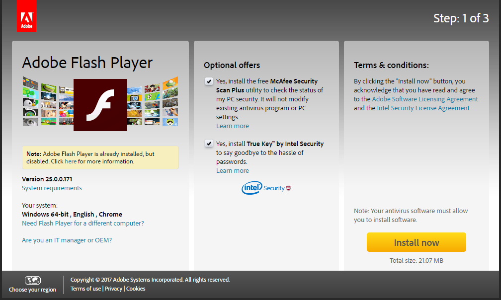 Adobe Flash Player Installation