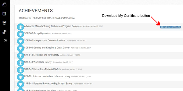 Download my certificate