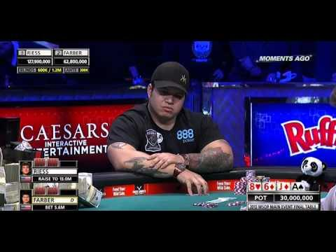 WSOP ME 2013 Final Table Heads Up Part 5