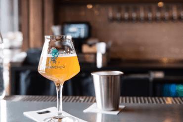 A glass of beer at No Anchor bar.
