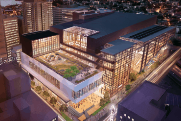 Artist's rendering of the new Washington State Convention Center