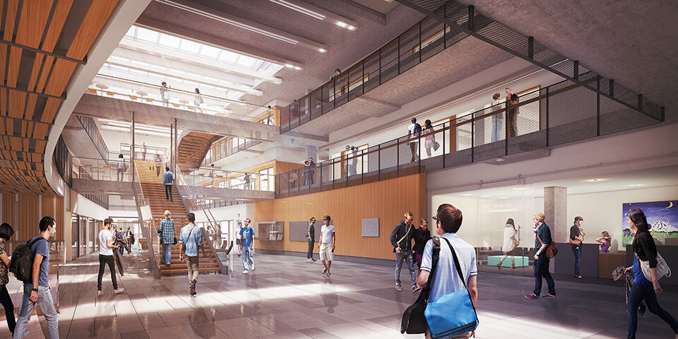 The Bill and Melinda Gates Center atrium (artist's rendering)